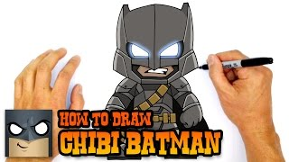 How To Draw Chibi Armored Batman Dawn Of Justice Drawing Lesson