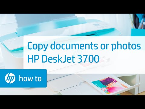Loading Documents or Photos and Copying on the HP DeskJet 3700 Printer Series