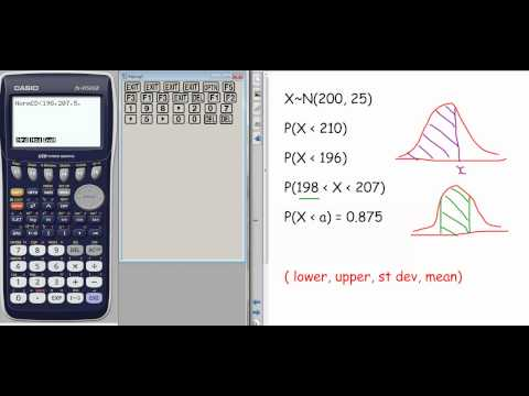 How to do normal distribution on your Casio fx-9750GII
