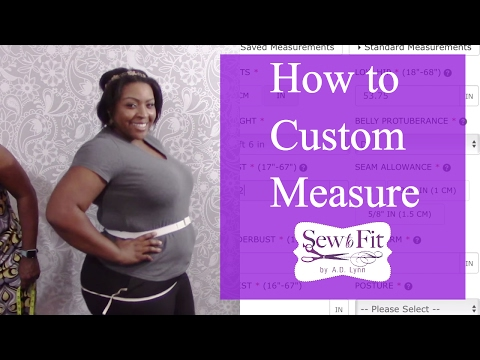 How-To Measure for Custom Patterns on Bootstrap for Curvy Girls-with Jennifer