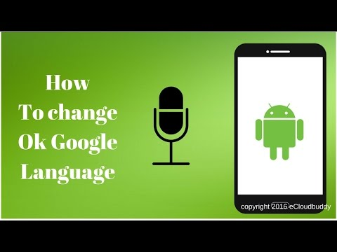 How to change ok google language