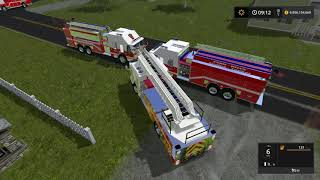 FS17-- Fire Department Responds to Gas Station Fire