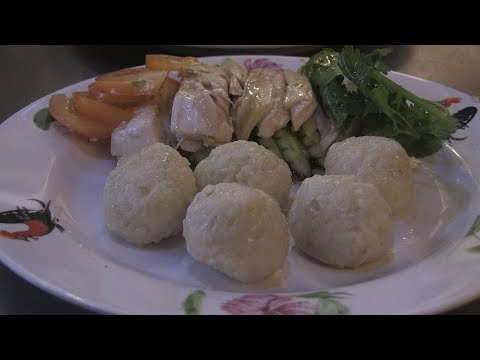 Chicken rice balls a hit in old Malaysian city