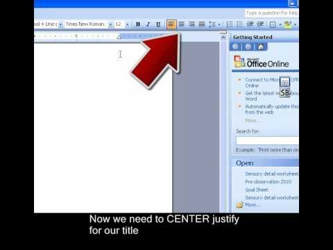 MLA Paper Formatting