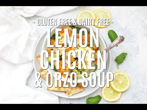 Gluten Free Lemon Chicken Orzo Soup