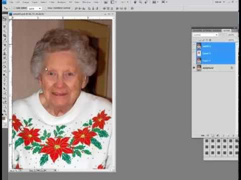 Retouching a photo (softening lines) in Photoshop and Elements