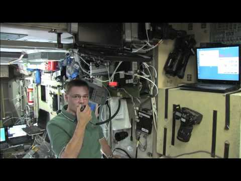 Space Station Crew Uses HAM Radio to Call Earth