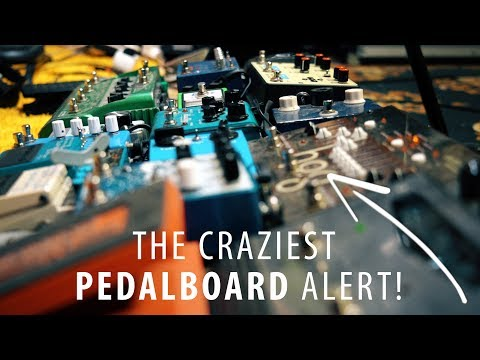 Can you still play guitar with a pedalboard this big?
