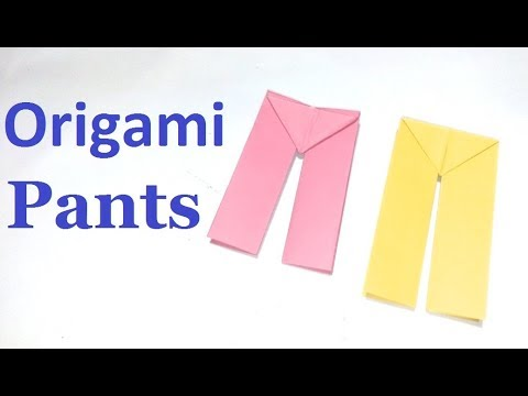 Origami Pants:-How to make a traditional easy origami Pants Simply Way|Paper Pants beginners making