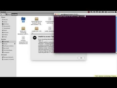 solve NTFS mount problem on ubuntu, or  unable to access
