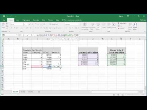 How to Lookup a value from multiple tables in a worksheet based on a condition in Excel 2016