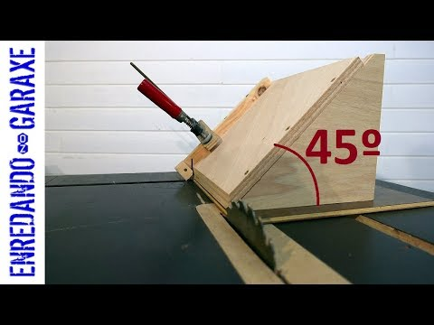 How to make a jig to crosscut at an angle. First prototype