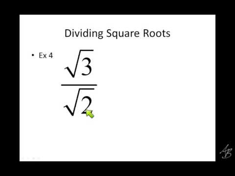dividing square roots notes