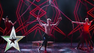 Aerial acrobatics group Fl'air wow the audience with their performance | Ireland's Got Talent 2019