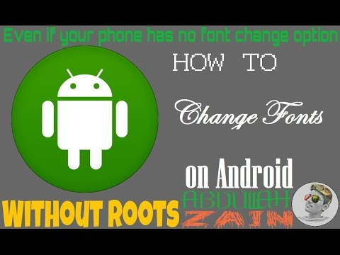 How To Change Your Android Phone Fonts {Without Root} | Make it Like Samsung | Abdullah Zain