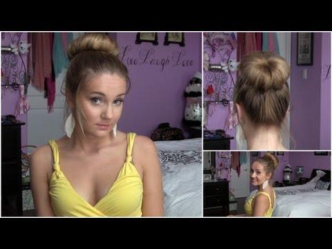 How To: Perfect Rolled Sock Bun - for LAYERED HAIR