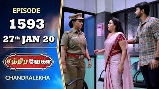 CHANDRALEKHA Serial | Episode 1593 | 27th Jan 2020 | Shwetha | Dhanush | Nagasri | Arun | Shyam