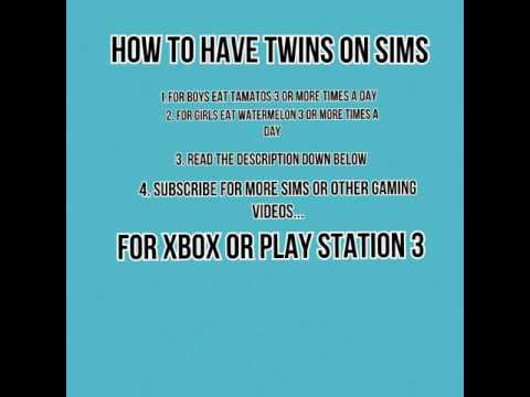 How To Have Twins On The Sims (Ps3 Or Xbox)