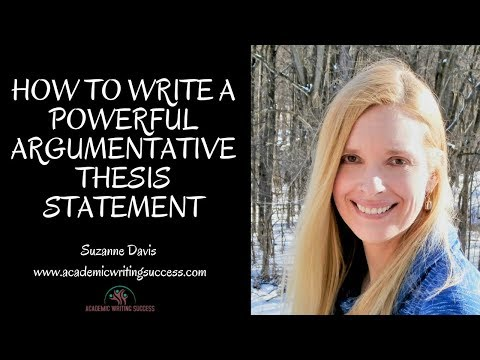 How to Write an Argumentative Thesis Statement