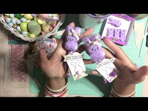 #7 Easter 🐇 Series 2017 - DIY PEEPS POPS !!! Treat Bags & Gift Tag