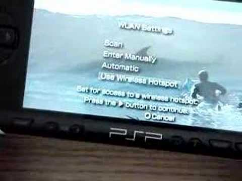 how to get internet on the psp