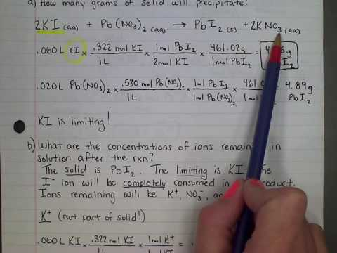 Ions in Solution After Precipitation