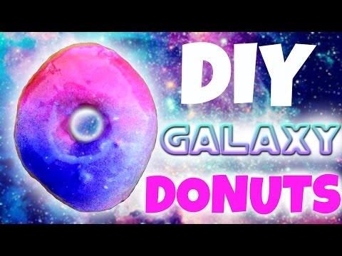DIY Galaxy Donuts! How to Make Galaxy Doughnuts!