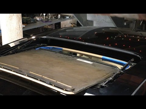 How to Remove Sunroof Glass and Replace Shade Guide Clips 05 VW Passat GLS