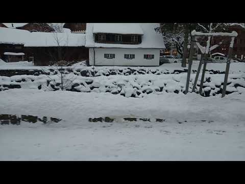 Magic Monk travels to Switzerland during Europe Snowstorm 2019 - Kandersteg part 2