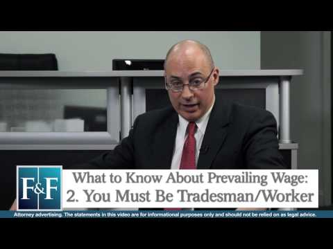 What is Meant by Prevailing Wage? Employment Attorney Adam Gonnelli Explains