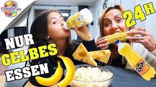 Download 24 STUNDEN nur GELBES ESSEN 🤣🍌 zu KRASS HILFE ! - Family Fun Video