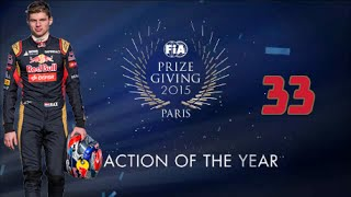 Max Verstappen - FIA Prize Giving 2015 (2) - FIA Action Of The Year