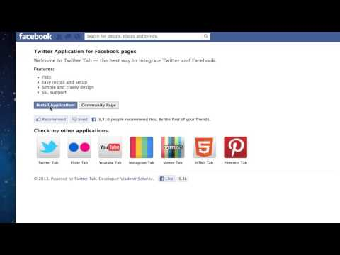 How to Add Twitter Feed or Tab to Facebook Business Page