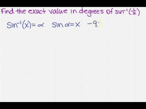 find exact value for inverse sine