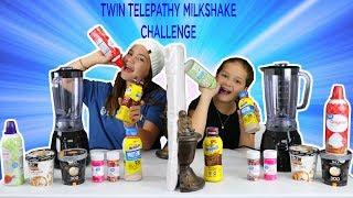 TWIN TELEPATHY MILKSHAKE CHALLENGE | SISTER FOREVER