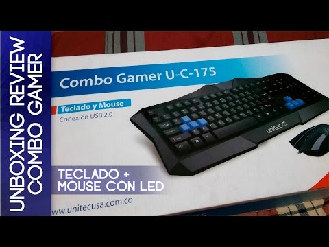 Unboxing Review Combo Gamer Teclado + Mouse con luces LED |2015|
