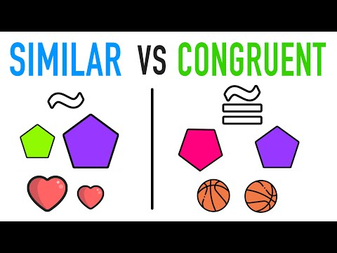 ✶ DIFFERENCE BETWEEN SIMILAR & CONGRUENT FIGURES?