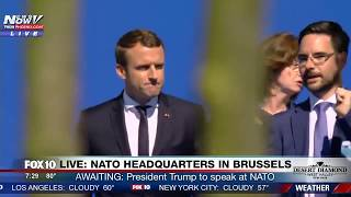 WATCH: Newly-Elected French President Emmanuel Macron Arrives at NATO Headquarters (FNN)