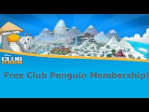 How To Get Free Membership In Club Penguin (NO DOWNLOADS,SURVEYS,VIRUS!!!!!)