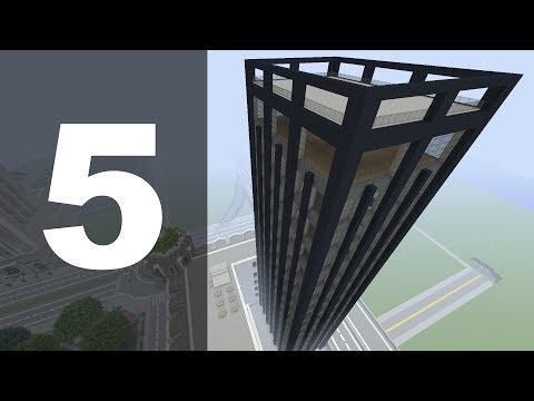 Minecraft Let's Build : 70's Style Skyscraper - Part 5