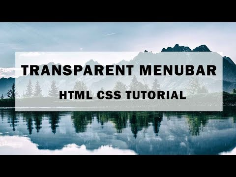 How To make transparent menu with html and css | Transparent Navigation Bar | Tutorial for Beginners