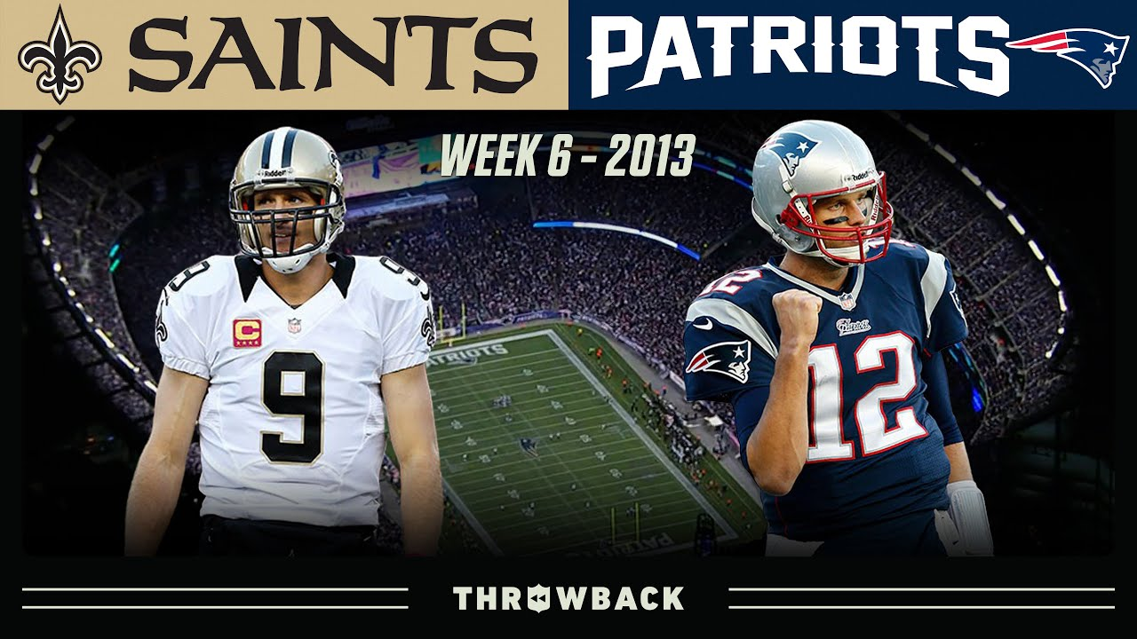 Brady & Brees Matchup Ends is Last Second Drama! (Saints vs. Patriots 2013, Week 6)