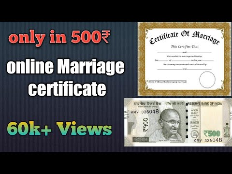 Online marriage registration certificate process 2018 hindi only in 500 Rs