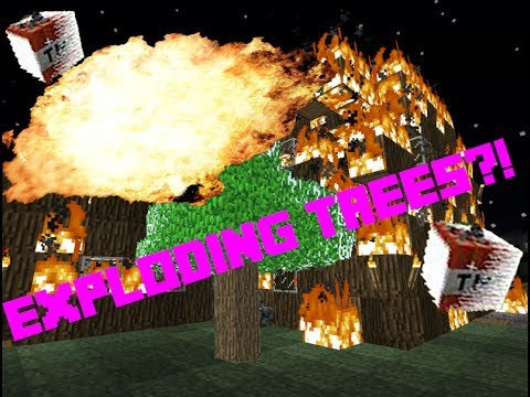 Minecraft - How To Make Exploding Tree Prank/Trap! [Resource Friendly]