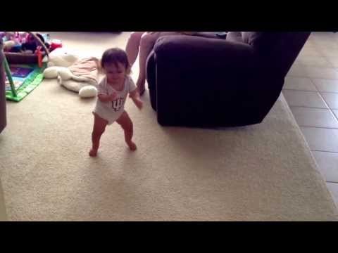 Baby Lexi Face Plants Trying to Walk