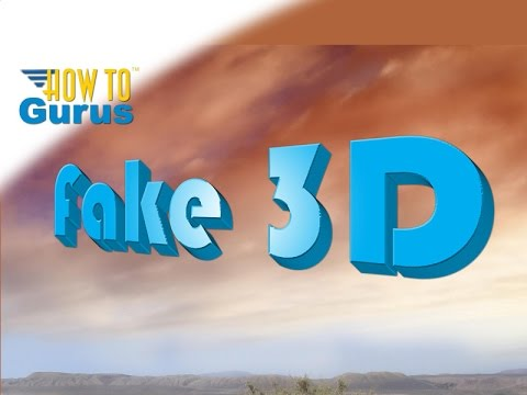 How to Make Fake 3D Text in Adobe Photoshop Elements 2018 15 14 13 12 11 Tutorial