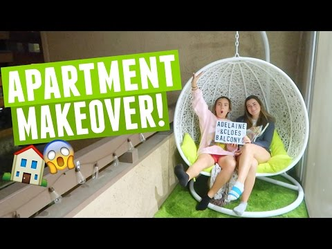 HOW WE BUILT A HUGE SWINGING CHAIR FOR OUR APARTMENT MAKEOVER!
