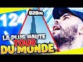 EN HAUT DE LA PLUS HAUTE TOUR DU MONDE 828m A DUBAI