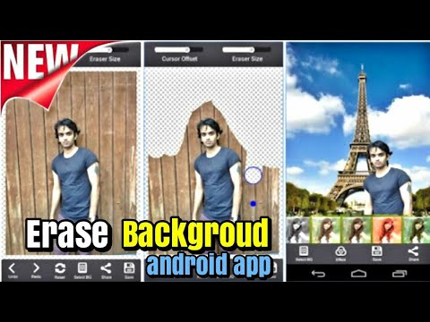 Erase background  edit photo JPG to PNG with android