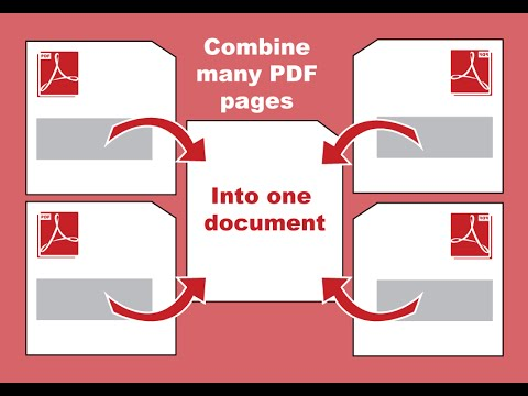 How to combine multiple PDF documents into one using Adobe Acrobat Pro 11